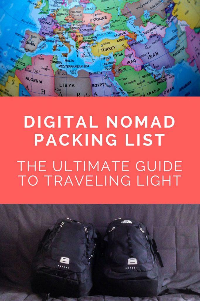 Digital Nomad Packing List