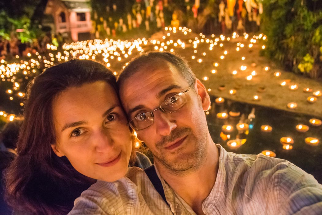 Yee Peng and Loy Krathong in Chiang Mai