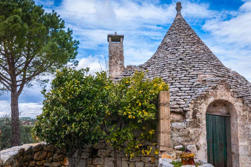 A trullo in the Itria Valley.