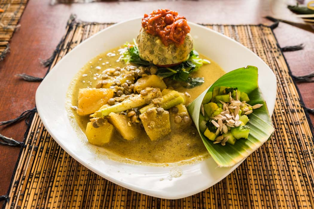 Ubud vegetarian organic restaurants.