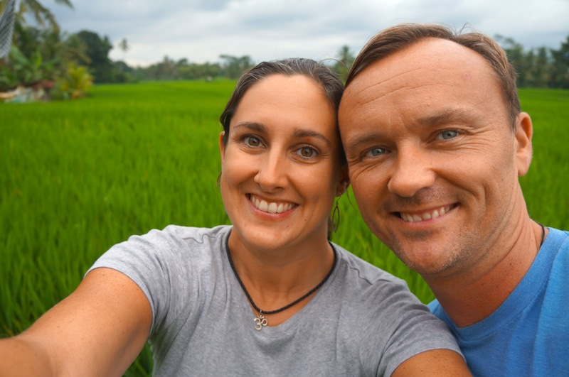With Husband in Tow in Bali.
