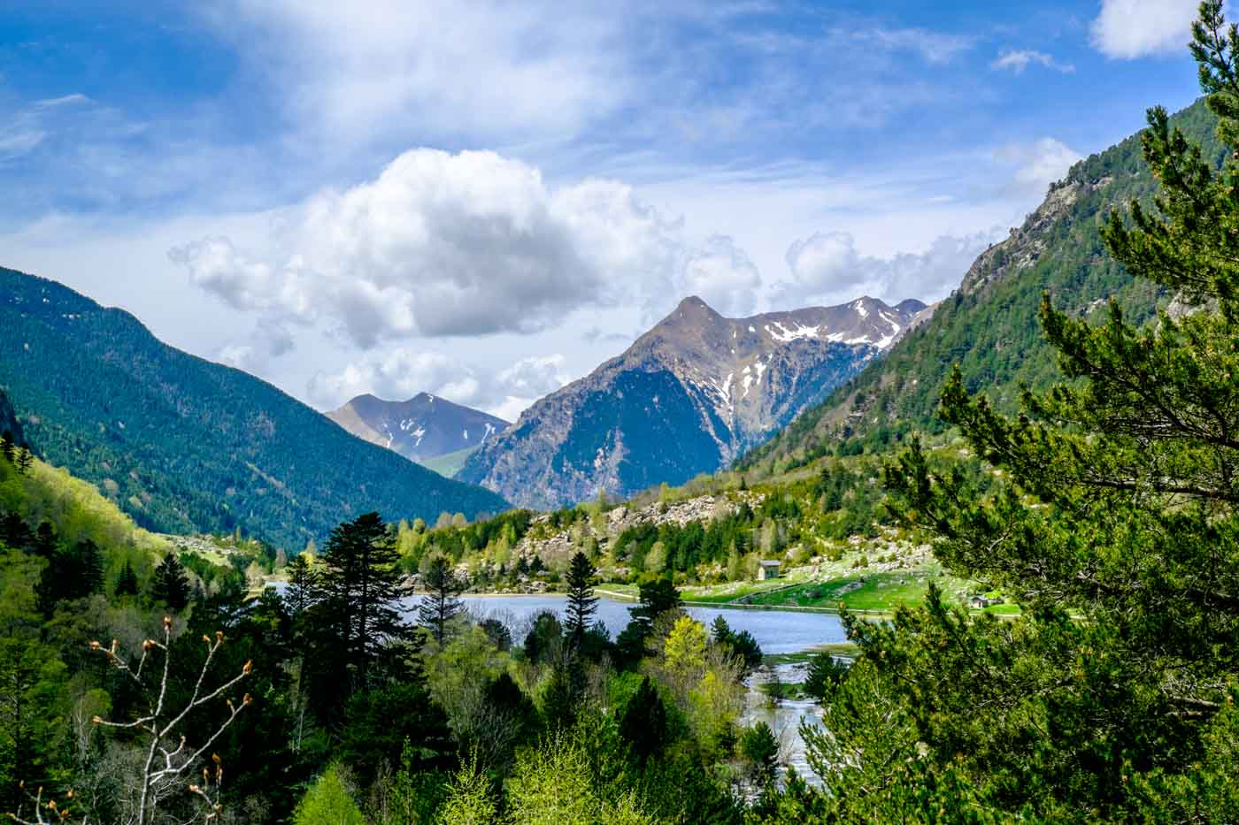 Four Natural Elements of the Lleida Pyrenees in Spain