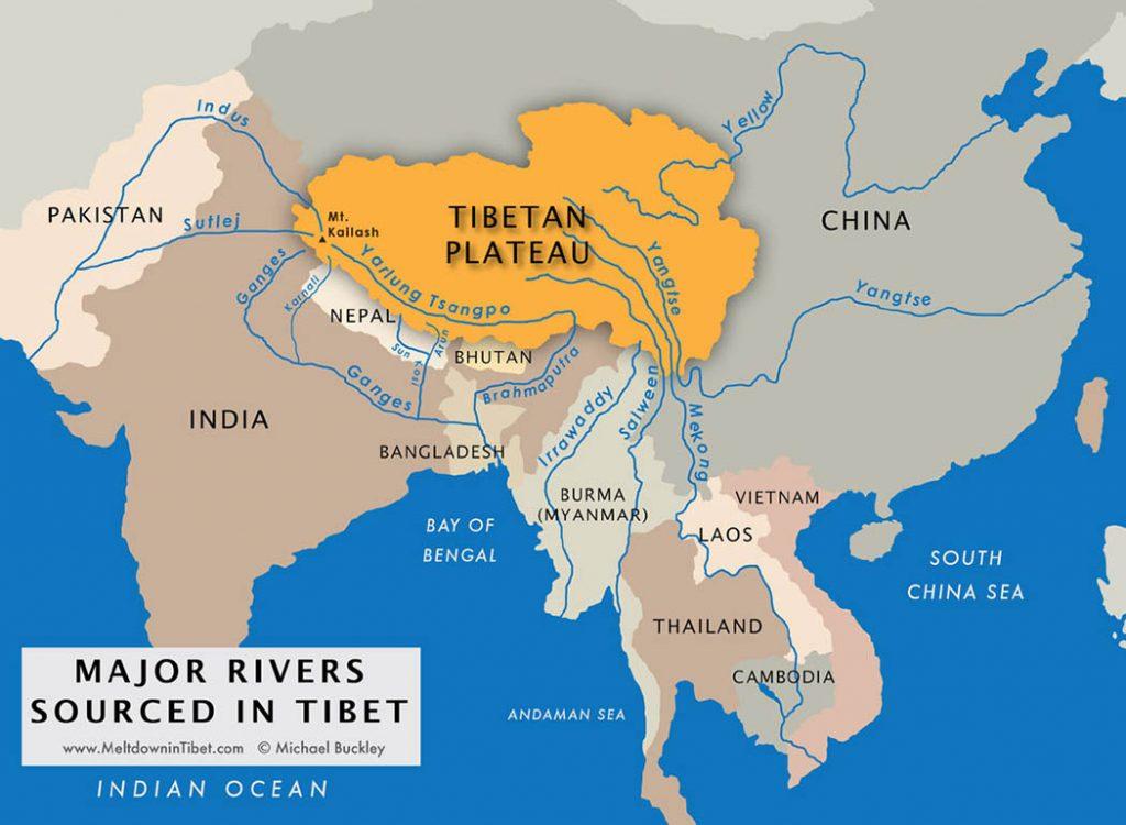 tibet-river-map