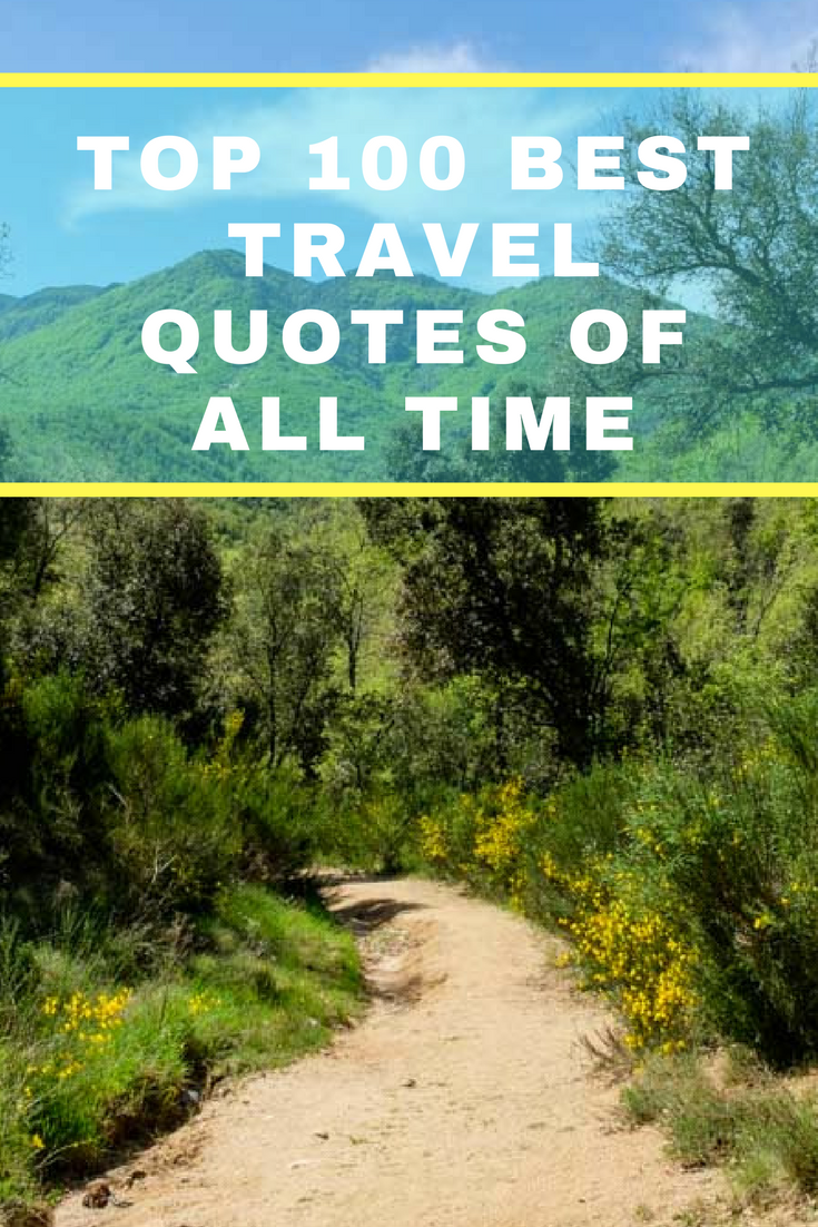 Who doesn't love travel quotes? In this post you will find the 100 best travel quotes of all time. #travelquotes #quotes #inspirationalquotes
