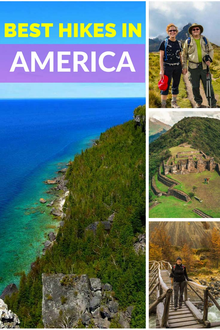 Best Hikes in America: A List of The Amazing Trails in North, Central and South America. #hiking #America #outdoors