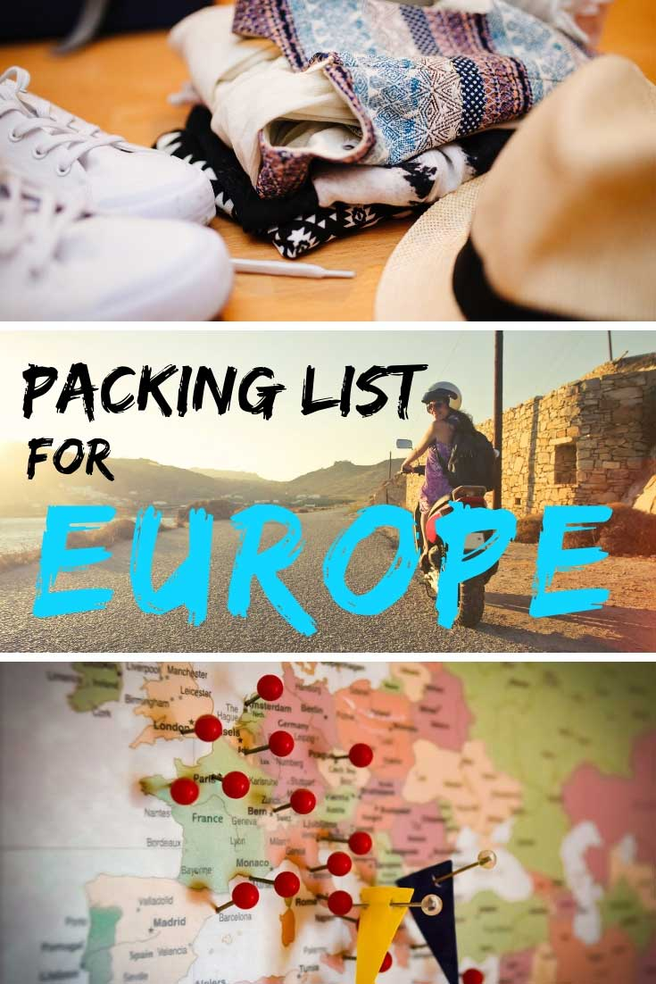 Packing list for Europe: All You Need To Know #packing #Europe