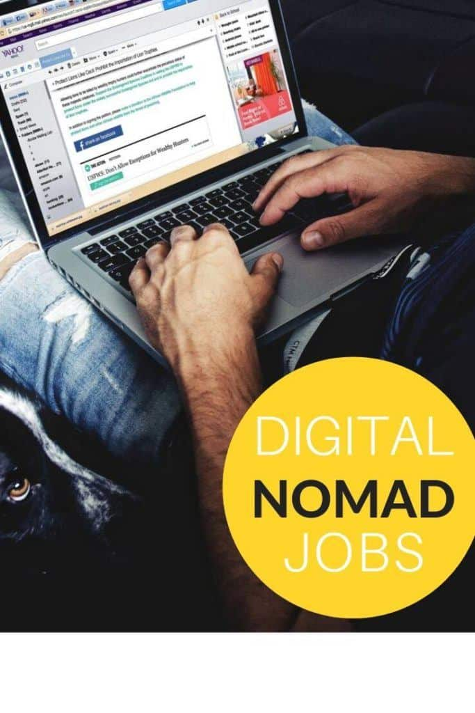 A shortlist of digital nomad jobs. #digitalnomad #digitalnomadjobs #nomadjobs